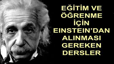 Einstein'dan Alınması Gereken Dersler