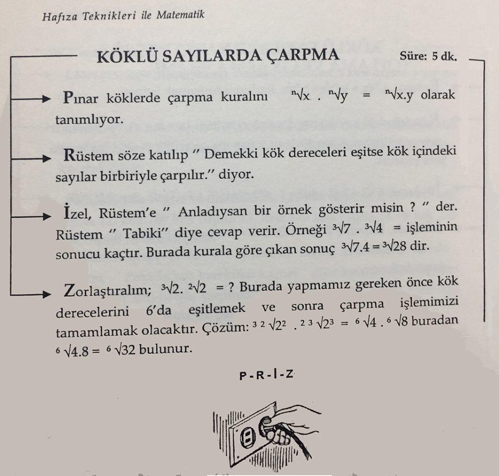 Örnek-1) Hafıza Teknikleri ile Matematik