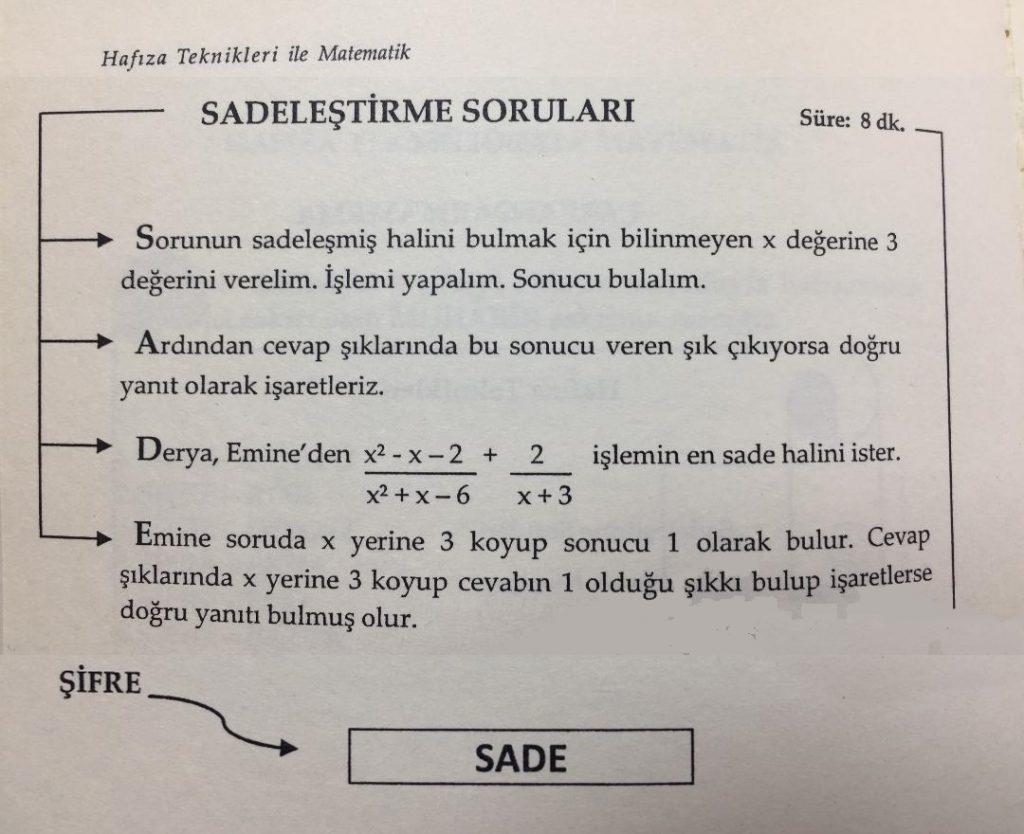 Hafıza Teknikleriyle Matematik- Örnek 2