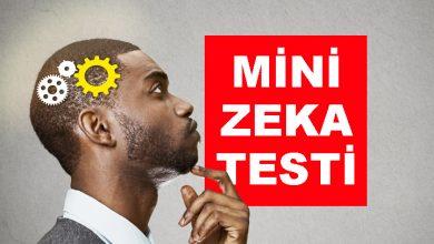 Photo of Zeka Testi – Mini Zeka Testi – 1 / İşlem Zeka Testi Soruları