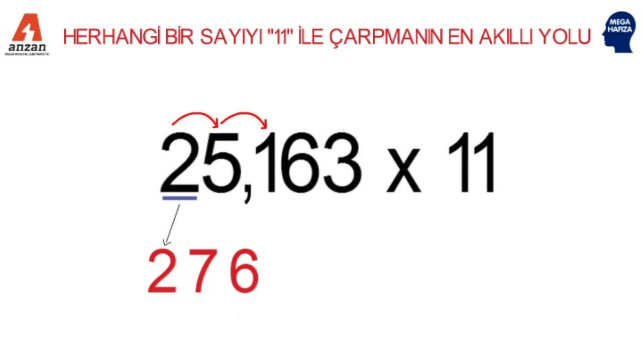 Herhangi bir sayının 11 ile çarpımı