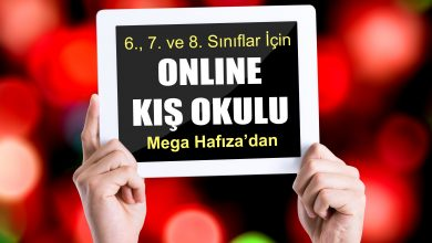 Photo of Mega Hafıza – 6., 7., ve 8. Sınıflar İçin Online Kış Okulu
