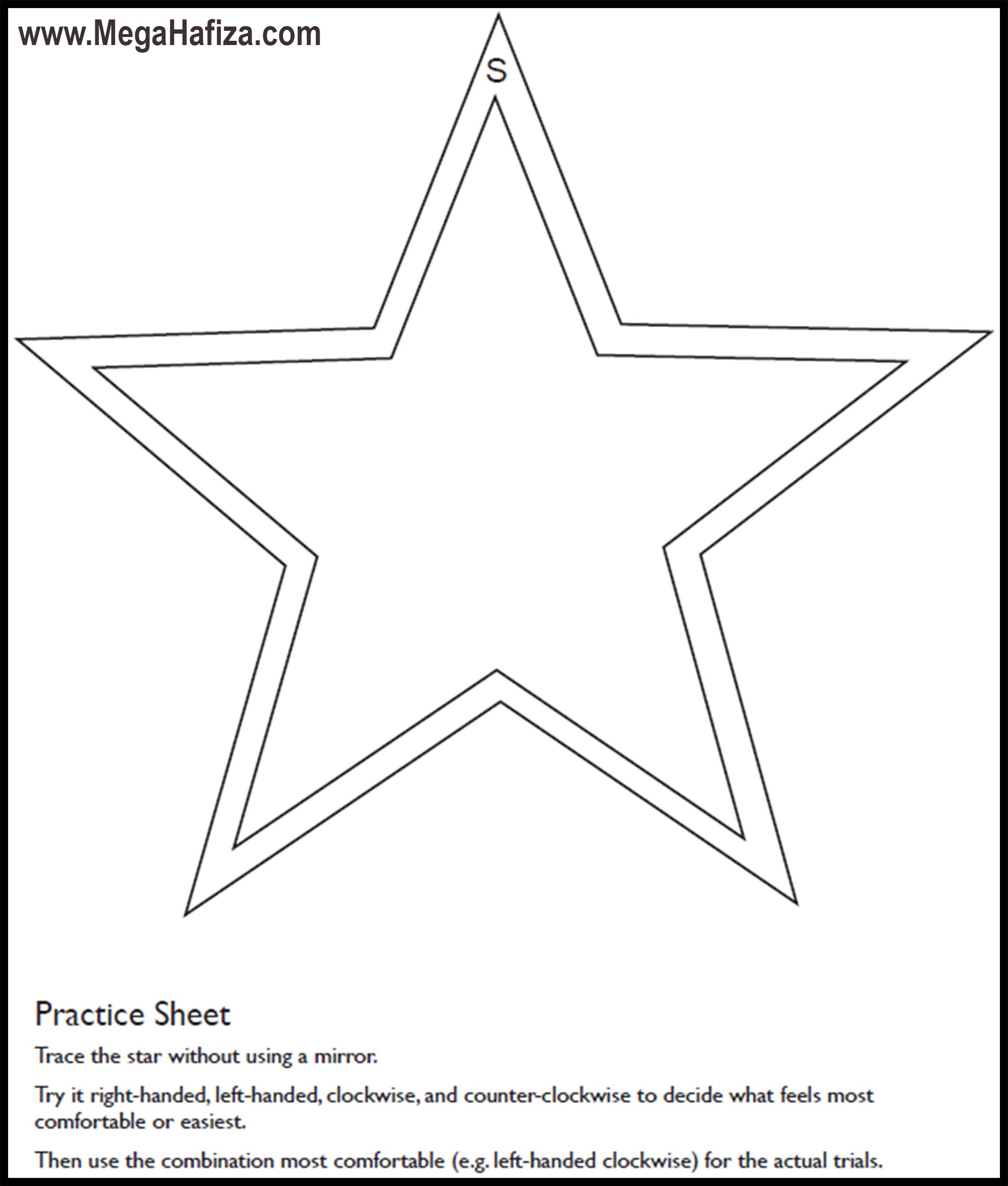 aynadan yansımayı görerek çizme görevi - 5 uçlu yıldız çizimi